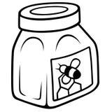 Miel dans le choc en verre Photo libre de droits