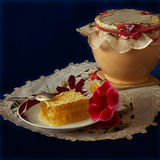 Miel de fleur Photo libre de droits