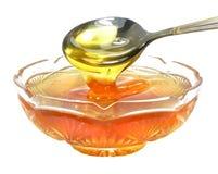 Miel de la abeja Imágenes de archivo libres de regalías