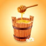 Miel de la abeja ilustración del vector
