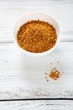 Miel de pollen dans une cuvette Photo stock