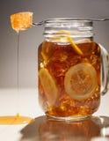 Miel del limón del té de hielo Fotografía de archivo libre de regalías