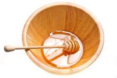 Miel en el tazón de fuente Fotos de archivo libres de regalías