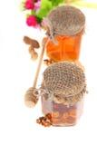 Miel en tarro Fotografía de archivo libre de regalías