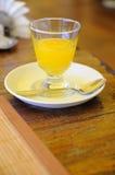 Miel en un vidrio Imagen de archivo