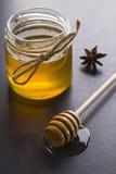 Miel et épices Photographie stock libre de droits