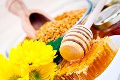 Miel et céréales photos libres de droits