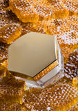 Miel et crème Photos libres de droits