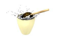 Miel et lait (3d effectués) Image stock