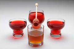 Miel et thé Photo stock