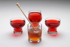 Miel et thé Photo libre de droits