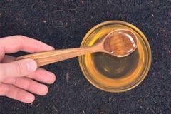Miel et thé purs d'Assam Photos libres de droits