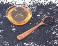 Miel et thé purs d'Assam Photographie stock libre de droits