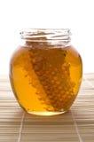 Miel frais avec le nid d'abeilles Image libre de droits