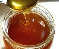 Miel fresca en un tarro Imagen de archivo