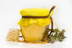 Miel herbaria aislada Fotos de archivo