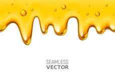 Miel inconsútil del goteo del vector en el fondo blanco ilustración del vector
