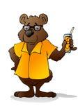 Miel linda de la bebida del oso Fotos de archivo libres de regalías