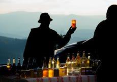 Miel para la venta Montañas rumania Fotos de archivo