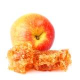 Miel y Apple Fotos de archivo libres de regalías