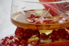 Miel y granada Año Nuevo judío - ROS Imágenes de archivo libres de regalías