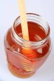Miel y Honey Dipper Imagenes de archivo