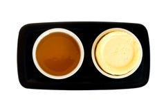 Miel y mantequilla foto de archivo libre de regalías