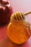 Miel y manzana Fotografía de archivo