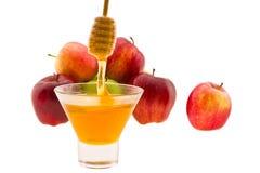 Miel y manzana Imagen de archivo