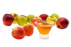 Miel y manzana Imágenes de archivo libres de regalías