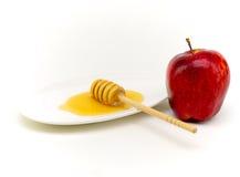 Miel y manzana para Yom Kipur Fotografía de archivo libre de regalías