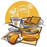 Miel y té Imágenes de archivo libres de regalías