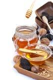 Miele in barattoli Fotografia Stock