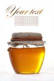 Miele in barattolo Fotografia Stock Libera da Diritti