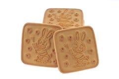 Miele, biscotti del latte isolati Fotografia Stock Libera da Diritti