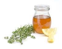 Miele con il limone ed il timo Immagine Stock Libera da Diritti
