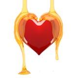 Miele del cuore. Immagine Stock