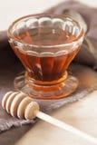 Miele delizioso fresco in di cristallo Immagini Stock