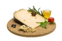 Miele e dadi del witn del formaggio Immagine Stock Libera da Diritti