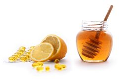 Miele e limone fotografia stock