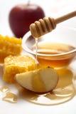 Miele e mele Fotografia Stock