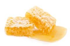 Miele isolato su fondo bianco Fotografia Stock Libera da Diritti