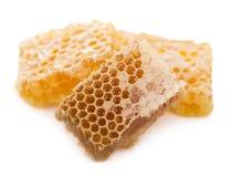 Miele isolato su fondo bianco Fotografia Stock