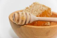 Miele naturale in favi Fotografia Stock