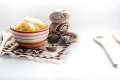 Miele nella cucina Fotografia Stock Libera da Diritti