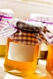 Miele in un vaso Fotografie Stock