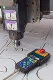 Mielenie maszyna dla przetwarzać klingeryty i pilot do tv Fotografia Royalty Free