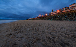 Mielno Beach at night Royalty Free Stock Photography
