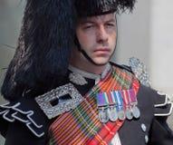 Miembro de los guardias Galés, victoria en el día de Europa (VE) Fotos de archivo