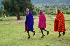 Miembro de una tribu del Masai Fotos de archivo